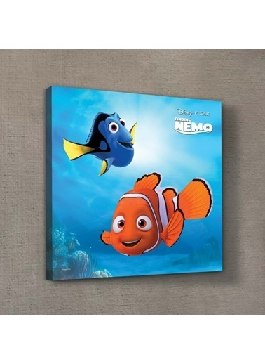 Disney Nemo & Dory-3 40x40 cm Kanvas Tablo Renkli